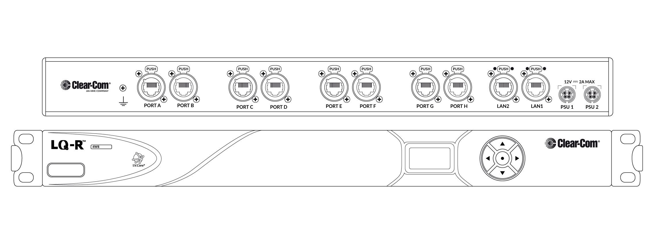LQ-R4W8 | Clear-Com | Partyline, Digital Matrix, IP and Wireless