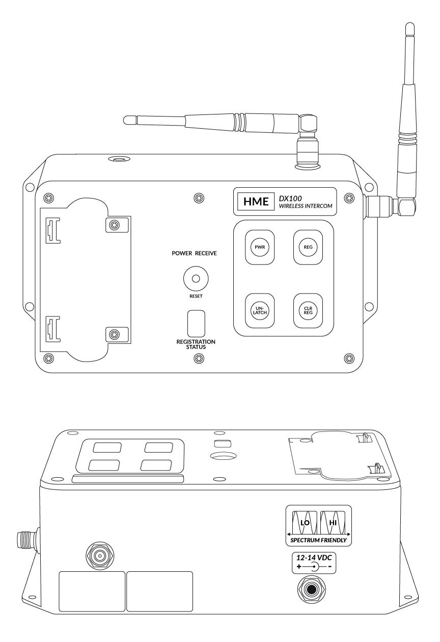 Mb100 Clear Com Partyline Digital Matrix Ip And Wireless Intercoms Intercom Circuit Front Panel Indicators